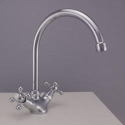 PB klassieke keukenkraan sterknoppen uitloop 190 mm Chroom 1208855502