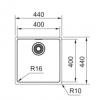 Franke Maris MRX 210.40 spoelbak onderbouw 1220527791