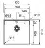 Franke Maris MRX 210.50 spoelbak met kraangat vlak inbouw 1270527794