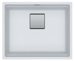Franke Kubus KNG 110.52 spoelbak 52x42 wit graniet onderbouw 1208862562