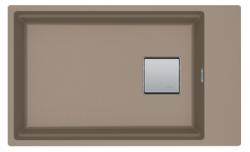 Franke Kubus KNG 110.62 spoelbak 72x42 taupe graniet onderbouw met kraangatbank 1208862632