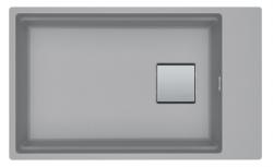 Franke Kubus KNG 110.62 spoelbak 72x42 grijs graniet onderbouw met kraangatbank 1208862652