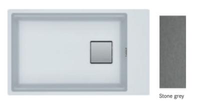 Franke Fragranite+ Kubus 2.0 KNG 110.62 Stone grey onderbouw 1250512507