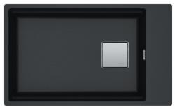 Franke Kubus KNG 110.62 spoelbak 72x42 zwart graniet onderbouw met kraangatbank 1208862662