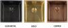 Reginox Miami accessoire bodemrek 40x40 PVD Gun Metal R3004 R30639