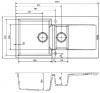 Reginox Amsterdam 15 Regi-graniet 1,5 spoelbak wit opbouw R30950