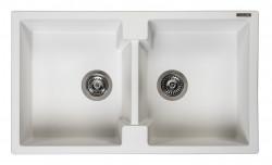 Reginox Amsterdam 20 Regi-graniet dubbele spoelbak wit opbouw R30998