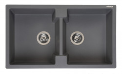 Reginox Amsterdam 20 Regi-graniet dubbele spoelbak grijs opbouw R31018