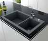 Reginox Amsterdam 50 Regi-graniet spoelbak zwart onderbouw en opbouw R30844