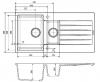 Reginox Harlem 15 Regi-graniet 1,5 spoelbak wit opbouw R31285