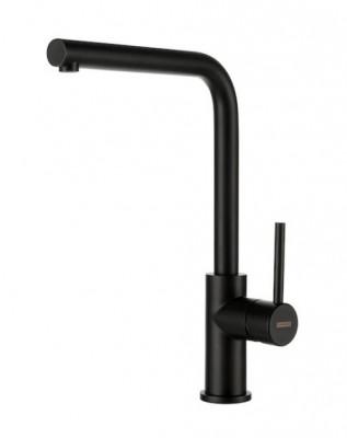 Lorreine Dart-BLACK keukenkraan volledig roestvrijstaal met draaibare uitloop zwart 1208916652