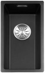 Lorreine Color-R zwarte rvs kleine spoelbak 17cm 17R-CLR-BLACK zwart 1208916702