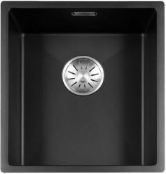 Lorreine Color-R zwarte rvs kleine spoelbak 34cm 34R-CLR-BLACK zwart 1208917013