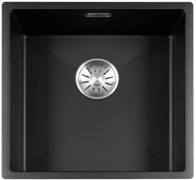 Lorreine Color-R zwarte rvs kleine spoelbak 40cm 40R-CLR-BLACK zwart 1208917014