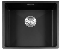 Lorreine Color-R zwarte rvs spoelbak 45cm 45R-CLR-BLACK zwart 1208917015
