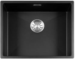 Lorreine Color-R zwarte rvs kleine spoelbak 50cm 50R-CLR-BLACK zwart 1208917016