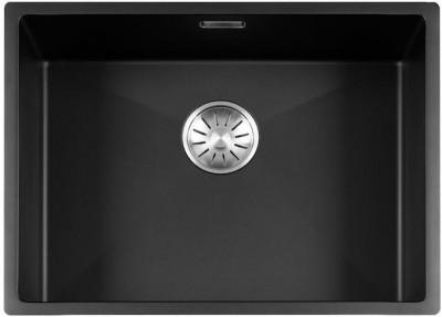 Lorreine Color-R zwarte rvs kleine spoelbak 55cm 55R-CLR-BLACK zwart 1208917017