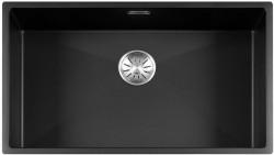 Lorreine Color-R zwarte rvs kleine spoelbak 74cm 74R-CLR-BLACK zwart 1208917018