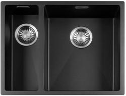 Lorreine Color-R zwarte rvs 1,5 spoelbak 1534cm 1534R-CLR-BLACK zwart 1208917020