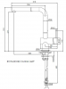 Reginox Cedar chroom met Uittrekbare uitloop Keukenkraan K1040K R31636