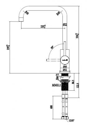 Rubio Inox keukenkraan draaibare uitloop volledig RVS 1208919585