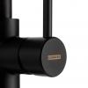 Lorreine Tweed keukenkraan volledig roestvrijstaal zwart mat Black met uittrekbare uitloop 1208920479