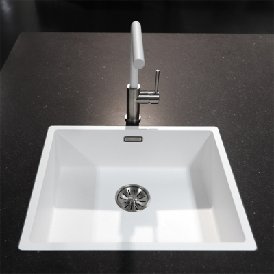 Lorreine Dart-Color-White keukenkraan volledig roestvrijstaal met draaibare uitloop mat wit 1208920484
