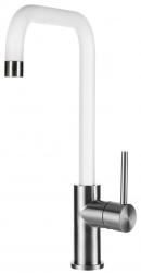 Lorreine Medway-Color-White keukenkraan volledig roestvrijstaal met draaibare uitloop mat wit 1208920485