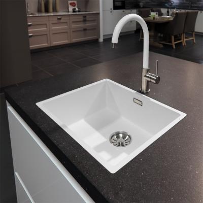 Lorreine Mersey-Color-White keukenkraan volledig roestvrijstaal met draaibare uitloop mat wit 1208920486