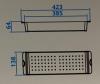 Caressi Basic Line 40cm inzetbak restenbak RVS CABL40CS