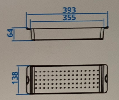 Caressi Basic Line 37cm inzetbak restenbak RVS CABL37CS