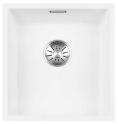 Lorreine Color-R witte rvs spoelbak 34cm 34R-CLR-WHITE wit 1208920524