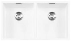 Lorreine Color-R white rvs dubbele spoelbak 3434cm 3434R-CLR-WHITE wit 1208920533