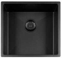 Lorreine Color-R zwarte rvs spoelbak 40cm 40R-CLR-BLACK-BLS zwart 1208920536