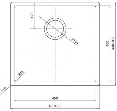 Lorreine Color-R zwarte rvs kleine spoelbak 45cm 45R-CLR-BLACK zwart 1208917015