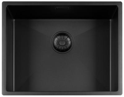 Lorreine Color-R zwarte rvs spoelbak 50cm 50R-CLR-BLACK-BLS zwart 1208920538