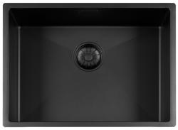 Lorreine Color-R zwarte rvs spoelbak 55cm 55R-CLR-BLACK-BLS zwart 1208920539
