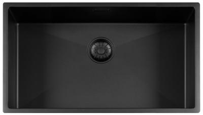 Lorreine Color-R zwarte rvs grote spoelbak 74cm 74R-CLR-BLACK-BLS zwart 1208920540