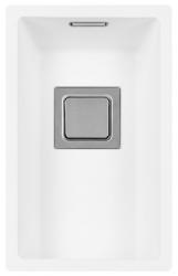 Lorreine Color-VK witte rvs kleine spoelbak 17cm 17VK-CLR-WHITE wit 1208920545