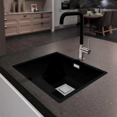 Lorreine Color-VK zwarte rvs spoelbak 34cm 34VK-CLR-BLACK zwart 1208920547
