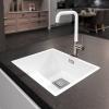 Lorreine Color-VK witte rvs spoelbak 45cm 45VK-CLR-WHITE wit 1208920552