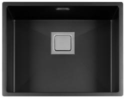 Lorreine Color-VK zwarte rvs spoelbak 50cm 50VK-CLR-BLACK zwart 1208920553