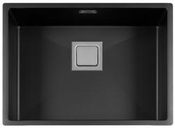 Lorreine Color-VK zwarte rvs spoelbak 55cm 55VK-CLR-BLACK zwart 1208920555