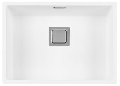 Lorreine Color-VK witte rvs spoelbak 55cm 55VK-CLR-WHITE wit 1208920556