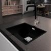 Lorreine Color-VK zwarte rvs grote spoelbak 74cm 74VK-CLR-BLACK zwart 1208920557