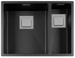 Lorreine Color-R zwarte rvs 1,5 spoelbak 3415cm 3415R-CLR-BLACK zwart 1208917019 kloon 12-02-2019 12:36:20