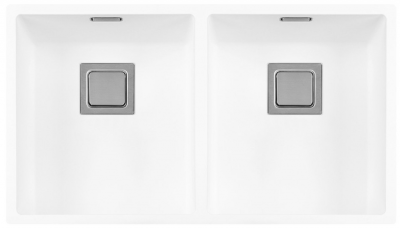 Lorreine Color-R white rvs dubbele spoelbak 3434cm 3434R-CLR-WHITE wit 1208920533 kloon 12-02-2019 12:41:53