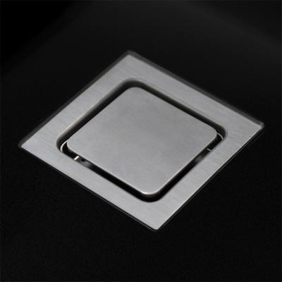 Lorreine Color-VK zwarte rvs dubbele spoelbak 3434cm 3434VK-CLR-BLACK zwart 1208920564