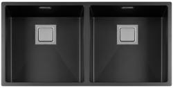 Lorreine Color-R zwarte rvs dubbele spoelbak 4040cm 4040R-CLR-BLACK zwart 1208917022 kloon 12-02-2019 12:48:06