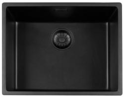 Lorreine Black Quartz spoelbak 50cm onderbouw zwart 50BQ-BLS 1208920568